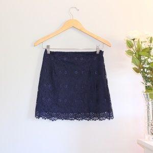 NWOT Forever 21 Blue Lace Skirt